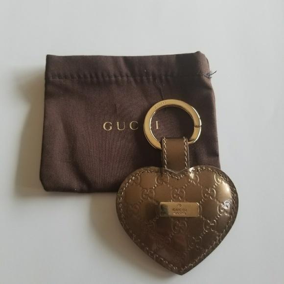 e2ba09d39fd9 Gucci Accessories - Gucci Guccissima Patent Leather Heart Keychain